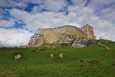Walls of Spiš castle in Slovakia — Photo