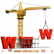 Building website — Stock Photo #10361663