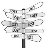 Lost way — Stock Photo