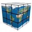 Earth cube - Foto de Stock