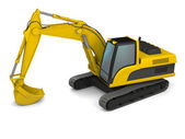 Modern excavator illustration — Stock Photo