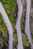 上からの山の道 — ストック写真