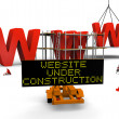 Foto Stock: Website under construction