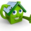 Solar panels on the roof — Stock Photo #8851272