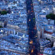 Lights of boulevard Saint Michel — Stock Photo
