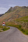 Steep road in Cumbria — Stock Photo