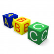 Abc on cubes — Stock Photo