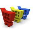 Stock Photo: Shopping trolleys