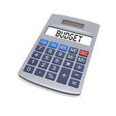 Budget calculator — Stock Photo