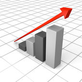 Growth chart with linear trend line — Stock Photo