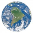 Stock Photo: Model of Earth facing South America