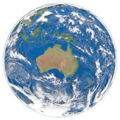 Model of Earth facing Australia — Stock Photo