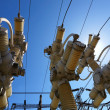 Stock Photo: Electric substation in bright sunny day with blue sky