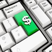 Keyboard Dollar Sign — Stock Photo