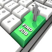 Fınd Job Key — Stock Photo