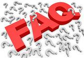 FAQs 3D Text — Stock Photo