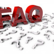 Foto de Stock  : Frequently Asked Questions