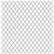 Stock Vector: Metallic fence