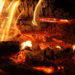 Fire and coals. — Stock Photo