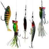 Fishing baits — Stock Photo