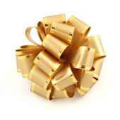 Gold bow. — Stock Photo