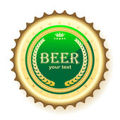 Beer, bottle cap — Stock Vector