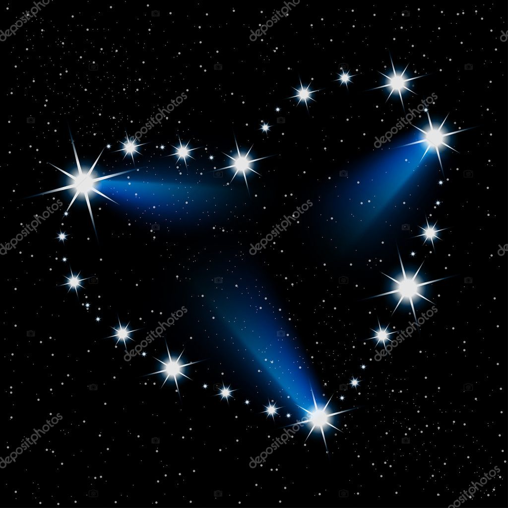 Abstract illustration of the heart of the stars in the cosmos. Vector. Eps10. — Stock Vector #9547374