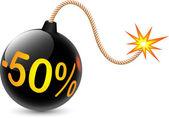 Bomb discounts — Stock Photo