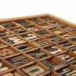 Wooden Type Printing Blocks — Stock Photo