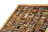Wooden Print Blocks — Stock Photo