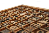 Wooden Printing Type — Stockfoto