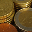 Stock Photo: Euro coins