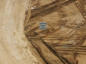 Wheel tracks in an open pit — Stockfoto