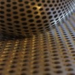 Royalty-Free Stock Photo: Spoon on perforated steel plate