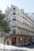 Paris Street Corner in Marais. — Stock Photo