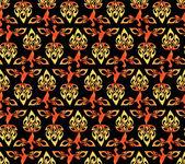 Abstract vector firebird pattern — Stock Vector