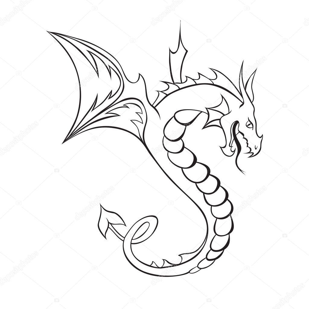 Графический рисунок дракон