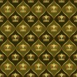 Brown background with crowns - 图库矢量图片