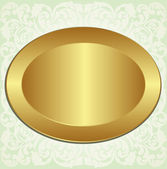 Gold oval frame — Stock Vector