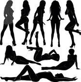 Women silhouette — Stock Vector