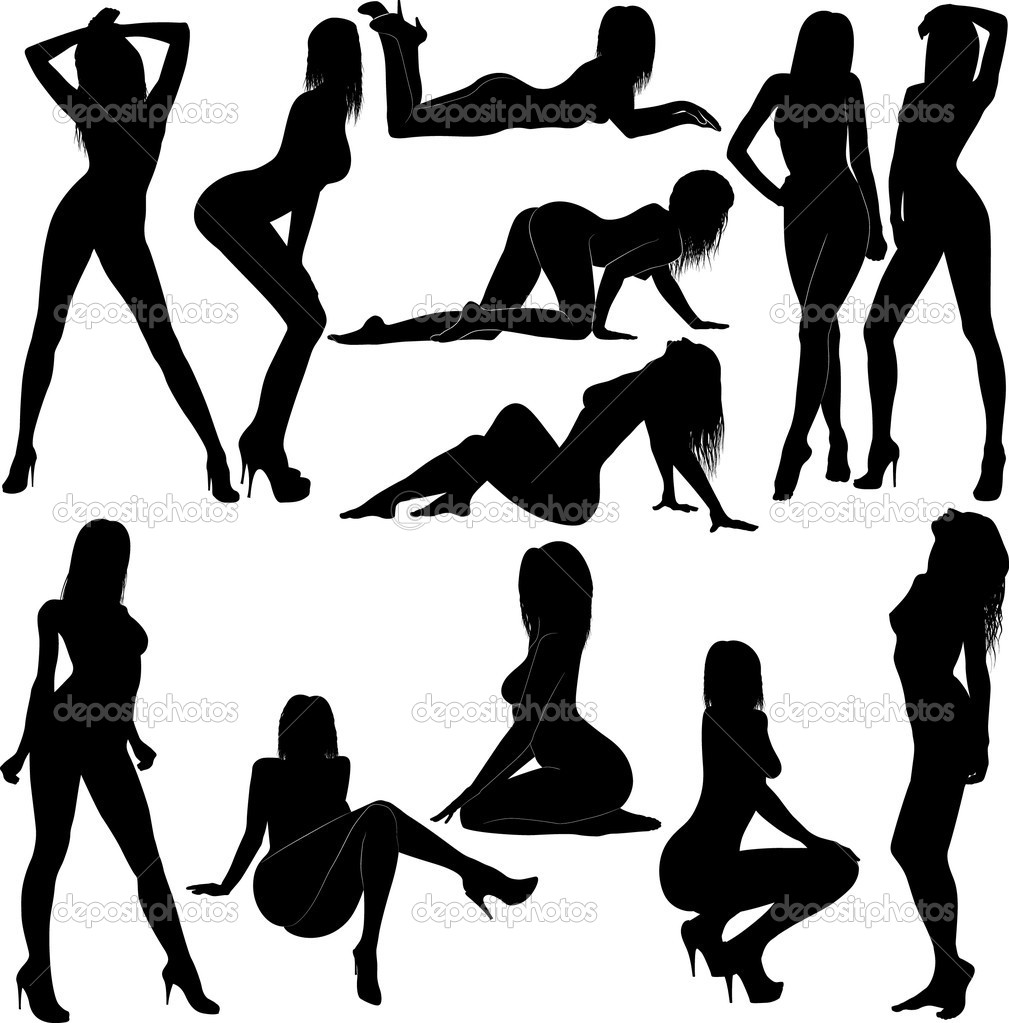 sexy naked chick silhouettes
