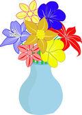 Flowers in vase — Stock Vector