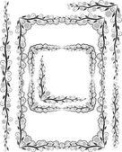 Ornements et les angles de trames — Vecteur