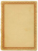 Old paper with decorative frame — Stock Photo