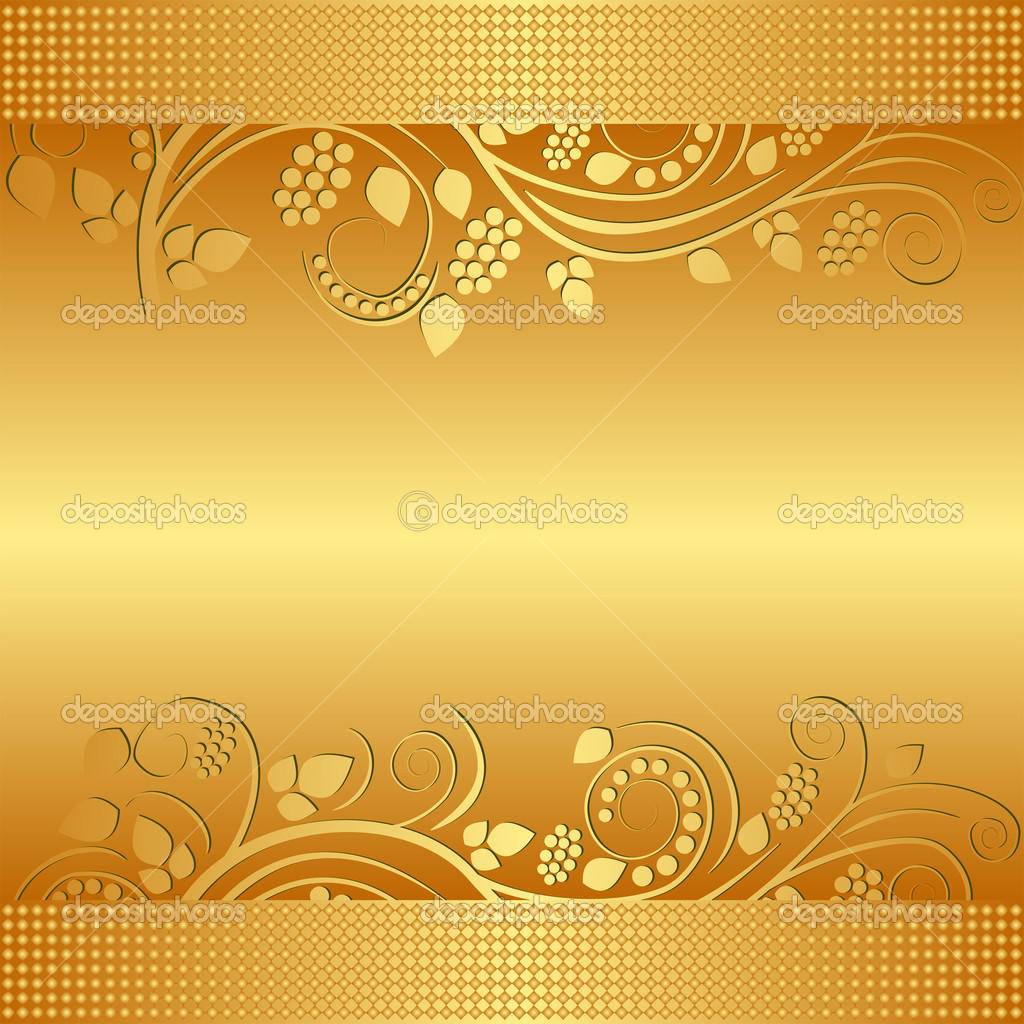 Golden Background Image Golden Background Decorated