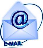 The world post envelope — Stock Vector