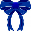 Stock Vector: Dark blue bow