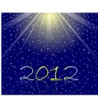 Background of the star sky 2012 - Stock Vector