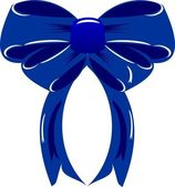Dark blue bow — Stock Vector