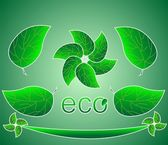 Banner with green leaves ECO — Stock Vector